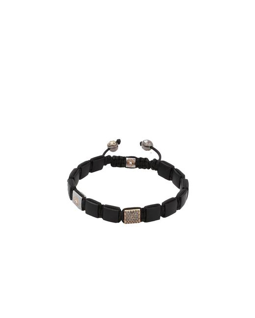 Shamballa Jewels | Black Onyx And Diamond Lock Bracelet | Lyst