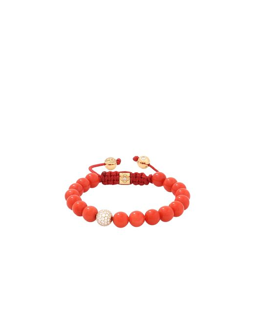 Shamballa Jewels | Red Coral And Diamond Beaded Bracelet | Lyst