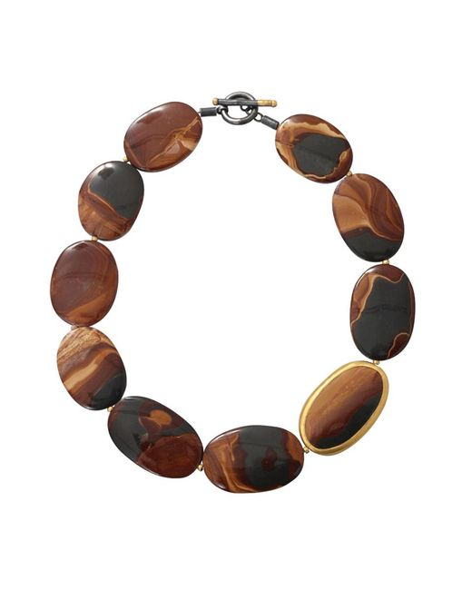 Yossi Harari - Brown Tiger Eye Agate Necklace - Lyst