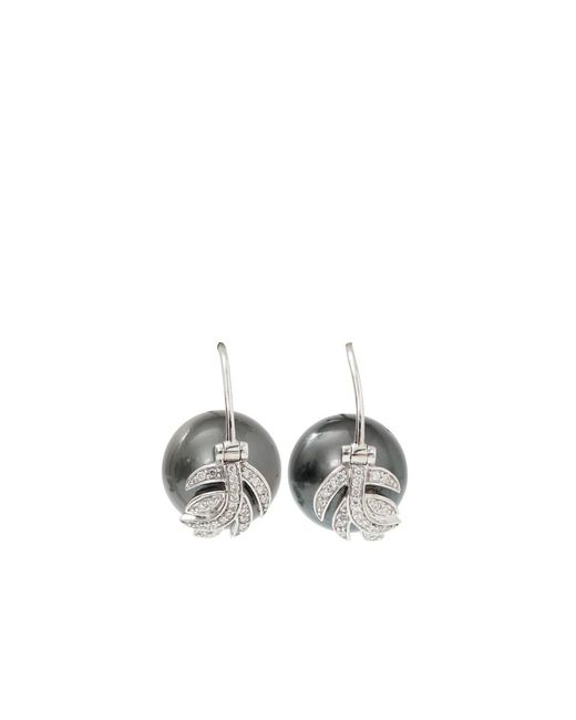 Jordan Alexander | Metallic Tahitian Pearl And Diamond Leaf Earrings | Lyst