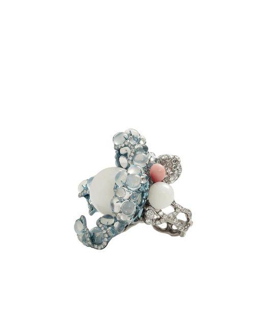 Arunashi | Metallic Clam Pearl And Diamond Ring | Lyst