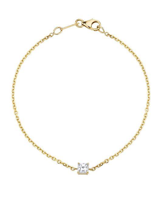 Anita Ko - Metallic Asscher Diamond Chain Bracelet - Lyst