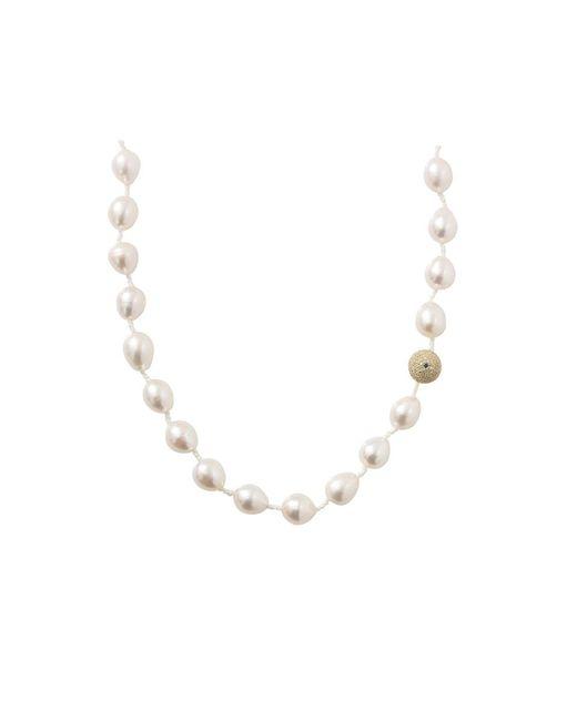 Jordan Alexander | White Freshwater Pearl Necklace | Lyst