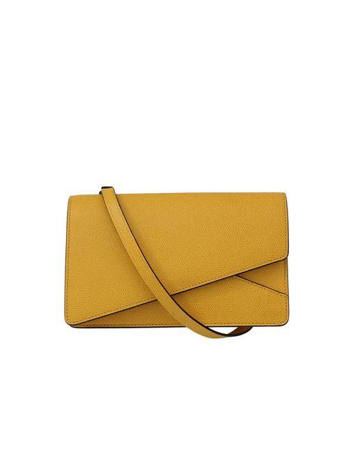 Valextra | Yellow Small Twist Bag | Lyst