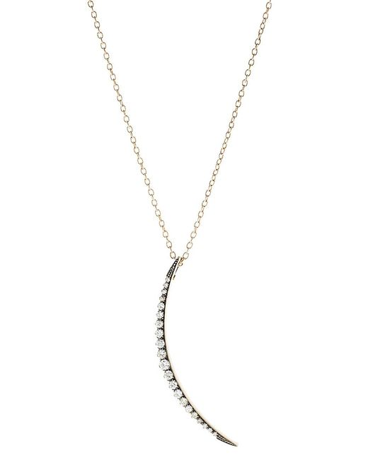 Sylva & Cie - Metallic Crescent Moon Pendant Necklace - Lyst