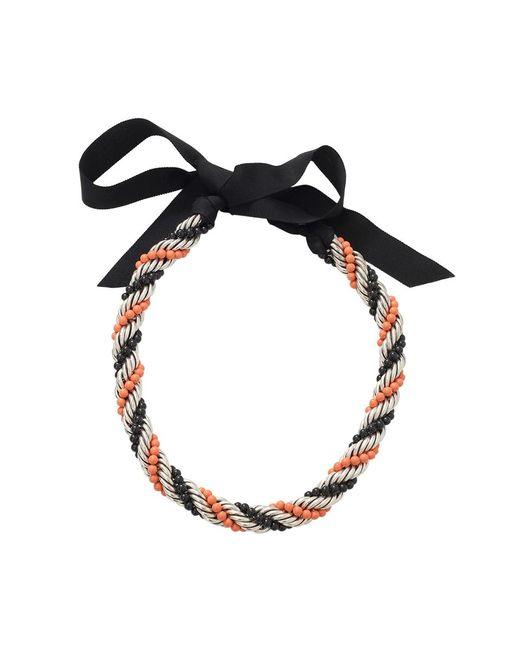 Lanvin   Orange Virna Twisted Bead Necklace   Lyst