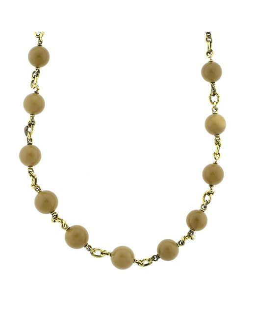 Sylva & Cie - Metallic Sea Bamboo Bead Necklace - Lyst