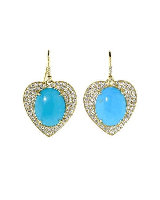 Irene Neuwirth - Blue Limited Edition Heart Earrings - Lyst