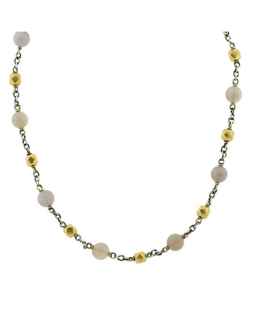 Sylva & Cie | Metallic Opal And Vintage Bead Necklace | Lyst