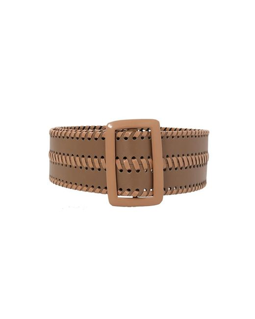 Oscar de la Renta - Brown Thick Leather Belt - Lyst