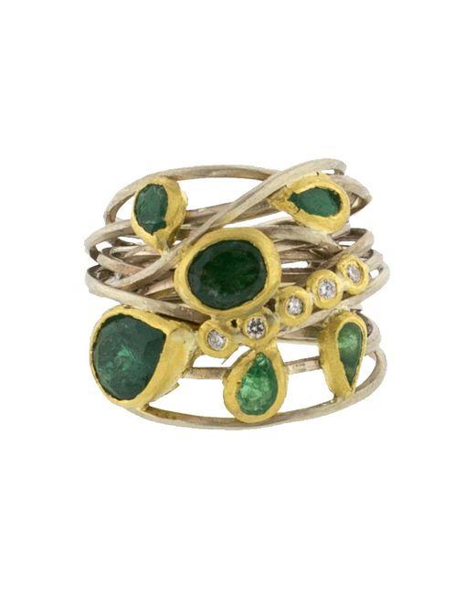 Boaz Kashi | Metallic Diamond Wire Wrap Ring | Lyst