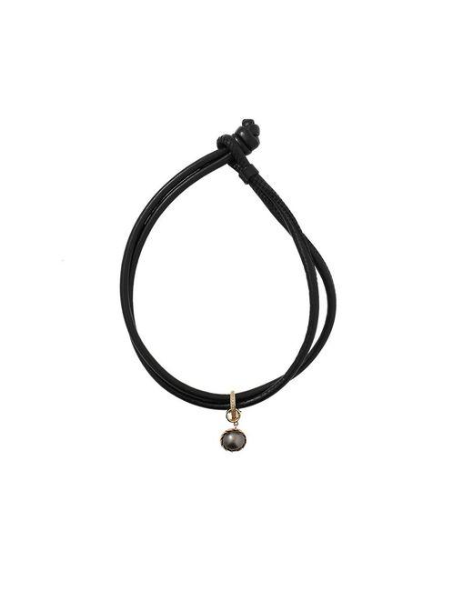 Mizuki | Black Pearl And Diamond Wrap Bracelet/choker | Lyst