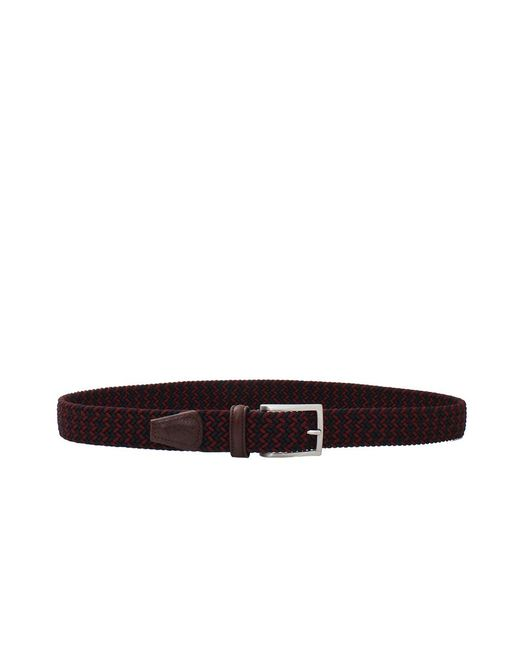 Luciano Barbera - Purple Solid Braided Belt for Men - Lyst