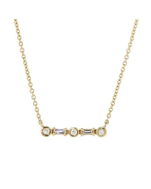 Dana Rebecca | Metallic Sadie Pearl Diamond Baguette Necklace | Lyst