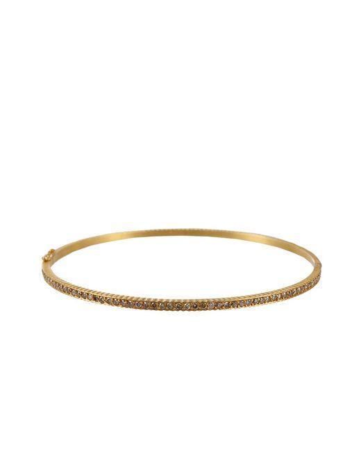 Yossi Harari - Metallic Lilah Hinged Bangle With Champagne Diamonds - Lyst