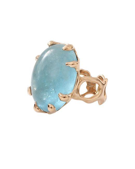 Lucifer Vir Honestus | Blue Aquamarine Chicco Ring | Lyst