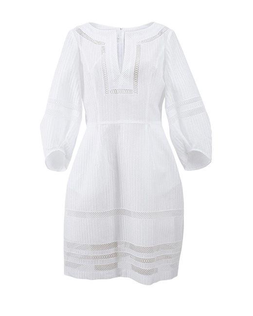 Oscar de la Renta | White Full Bottom Dress | Lyst