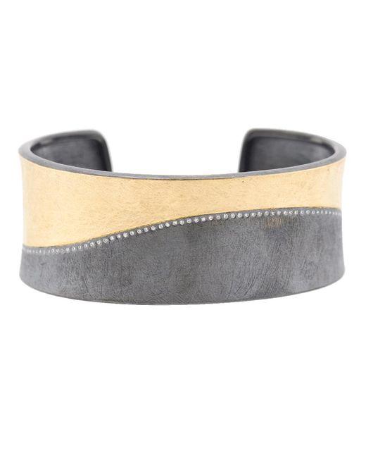 Todd Reed - Metallic Diamond Line Silver Cuff Bracelet - Lyst