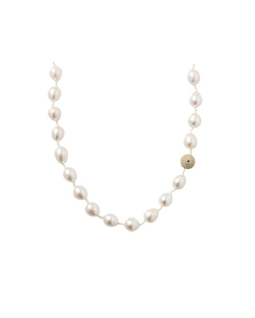 Jordan Alexander - White Freshwater Pearl Necklace - Lyst