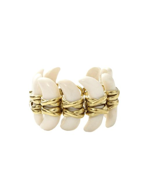 Vaubel - Metallic Connected Bone Bracelet - Lyst