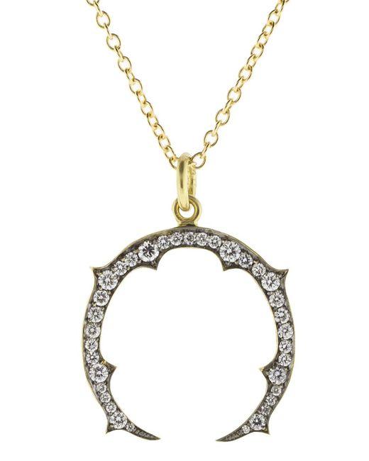 Lyst sylva cie small horseshoe pendant necklace in metallic sylva cie metallic small horseshoe pendant necklace aloadofball Gallery