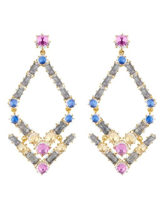 Larkspur & Hawk - Metallic Caterina Trapezoid Chandelier Earrings - Lyst