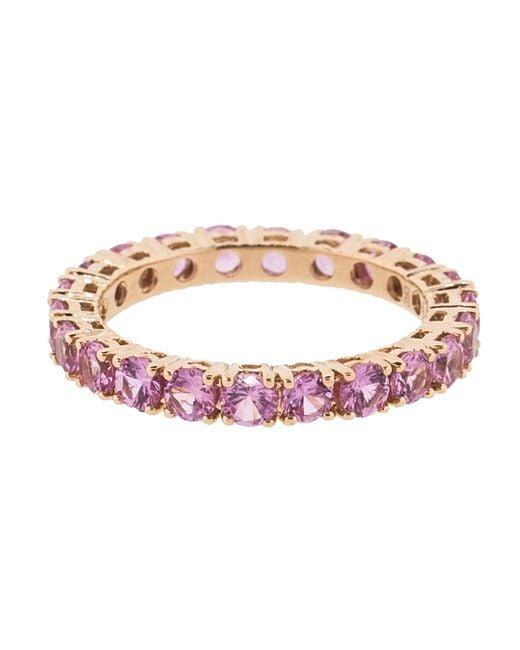 Dana Rebecca - Pink Sapphire Eternity Ring - Lyst