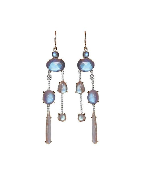 Irene Neuwirth - Multicolor Rainbow Moonstone Drop Earrings - Lyst