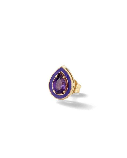 Alison Lou | Purple Amethyst Single Stud Earring | Lyst