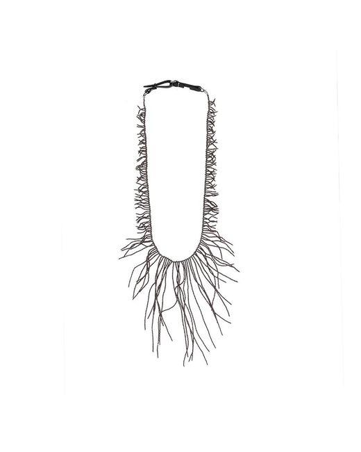 Brunello Cucinelli - Gray Ematite Long Branch Necklace - Lyst