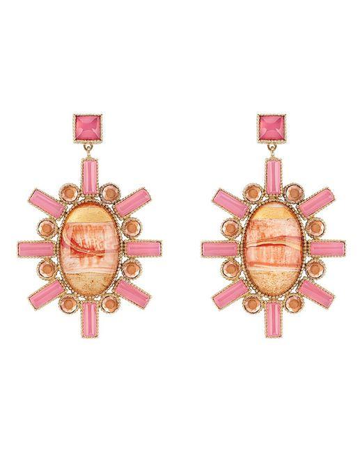 Larkspur & Hawk - Pink Cora Large Chandelier Earrings - Lyst