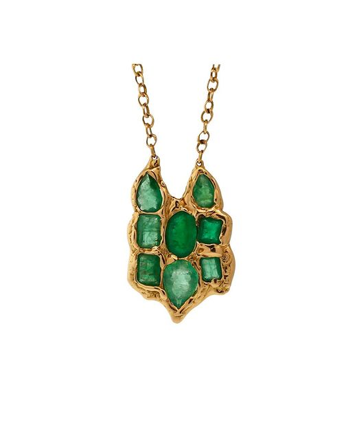 Lucifer Vir Honestus | Green Emerald Owl Pendant Necklace | Lyst