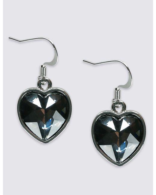Marks & Spencer | Multicolor Glass Stone Heart Drop Earrings | Lyst