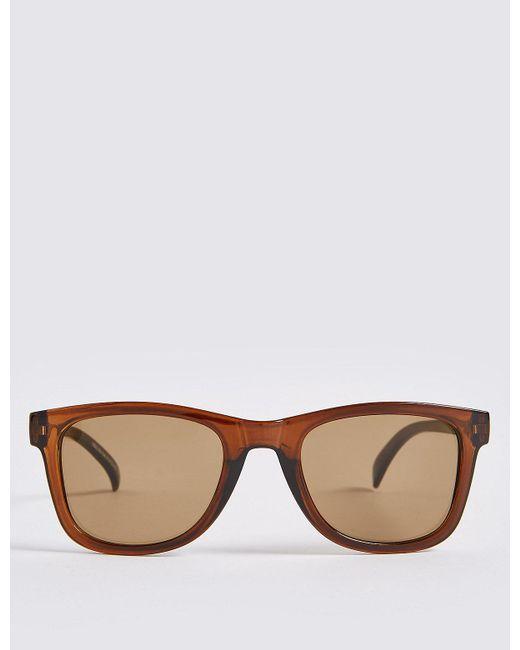 Marks & Spencer - Brown Wayfarer Sunglasses for Men - Lyst