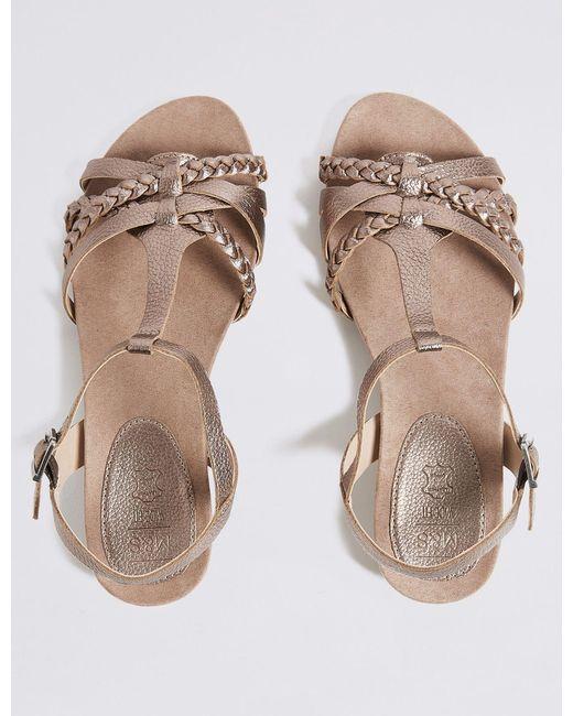 fd4c8d7ea20 ... Marks   Spencer - Multicolor Wide Fit Leather Gladiator Sandals ...