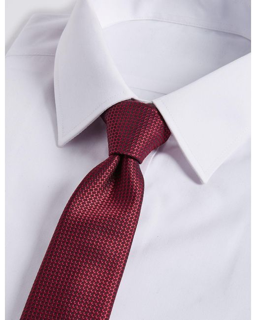 Marks & Spencer - Purple Skinny Textured Tie for Men - Lyst