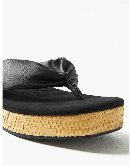291b187d20f Lyst - Marks   Spencer Flatform Toe Thong Sandals in Black