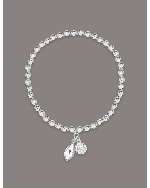 Marks & Spencer | Metallic Double Drop Bracelet Made With Swarovski® Elements | Lyst