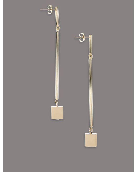 Marks & Spencer | Metallic Cube Drop Earrings | Lyst