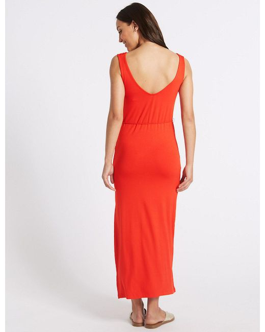Ruched Front Slip Maxi Dress red Marks and Spencer Clearance Deals Visit Cheap Online Brand New Unisex Cheap Price Manchester Cheap Online Buy Cheap Hot Sale zDAoqFAlax