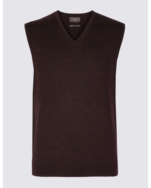 Marks & Spencer - Multicolor Pure Merino Wool Sleeveless Jumper for Men - Lyst