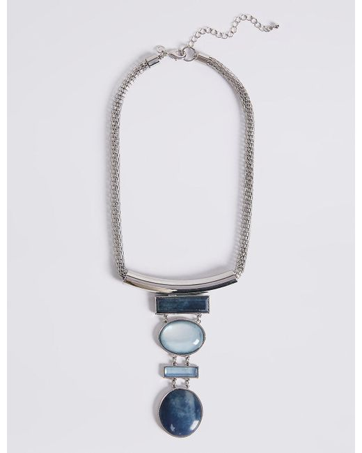 Marks & Spencer   Metallic Mix Shape Drop Necklace   Lyst