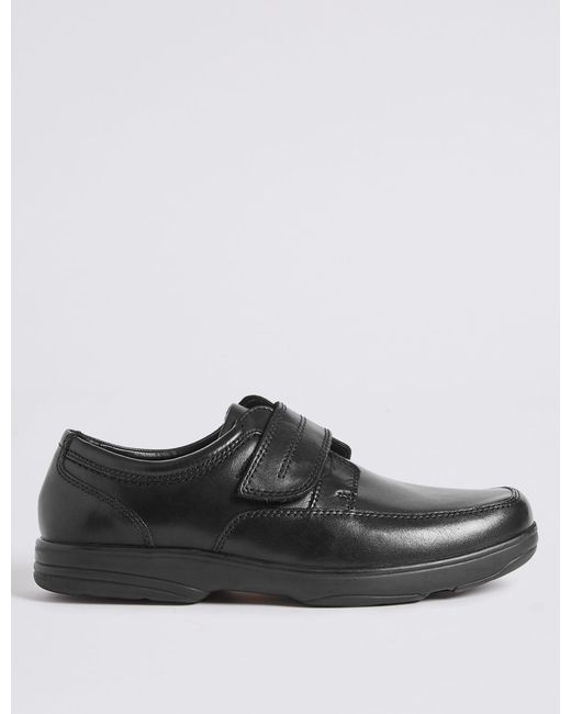 9f2752a88c7 Marks   Spencer - Black Extra Wide Fit Leather Shoes With Airflextm for Men  - Lyst ...