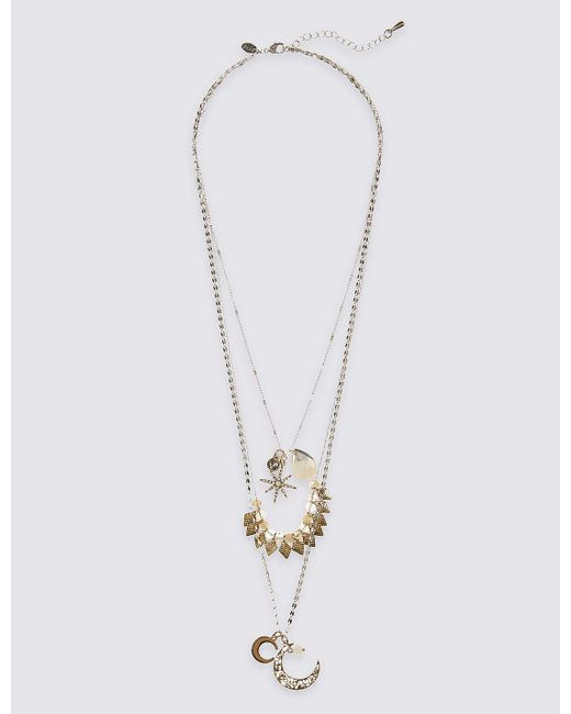 Marks & Spencer | Metallic Moon & Star Layered Necklace | Lyst