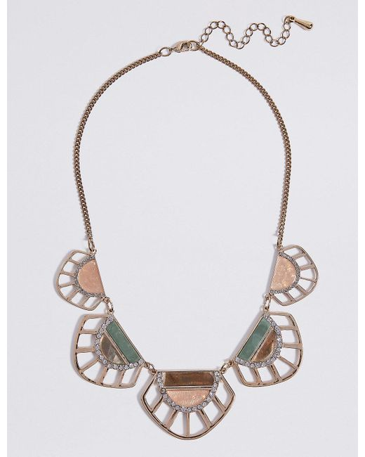Marks & Spencer | Metallic Cut Out Shell Collar Necklace | Lyst