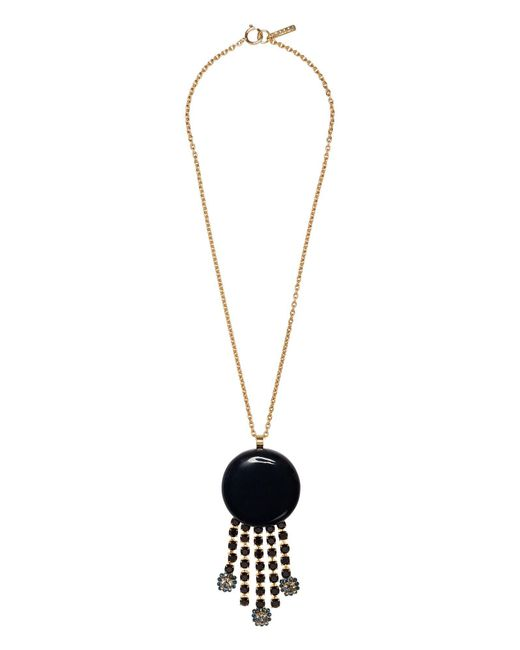Marni - Multicolor Metal, Resin And Rhinestone Necklace - Lyst