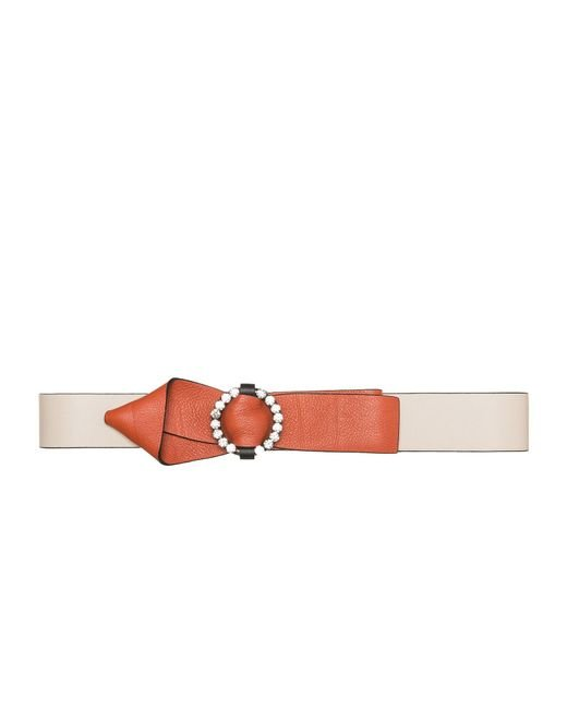 Marni   Multicolor Belt In Calfskin With Buckle In Strass   Lyst