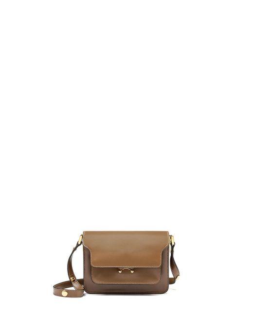 Marni | Brown Trunk Mini Bi-Colored Leather Shoulder Bag | Lyst