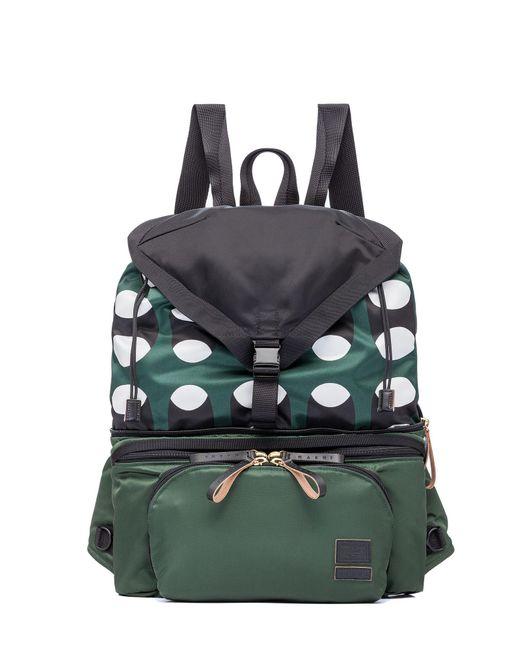 Marni - Green Porter Multi-zip Backpack-fanny Pack In Printed Nylon - Lyst
