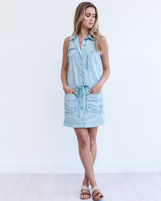Marrakech | Blue Panama Cargo Dress | Lyst